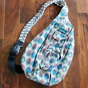 Kavu Rope Sling Bag Backpack Gray Blue